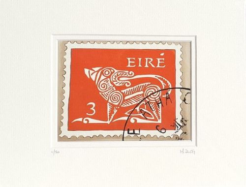 Old Irish Postage Stamp Print by Michelle Duffy